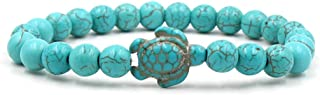 Potelin Premium Quality Turtle Beads Bracelets for Women Men Classic Natural Stone Elastic Friendship Bracelet Beach Jewelry style1