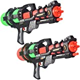22-inch High Capacity Big Water Guns Blaster Soaker Squirt Toys for Kids, Teens, Adults 2-Pack