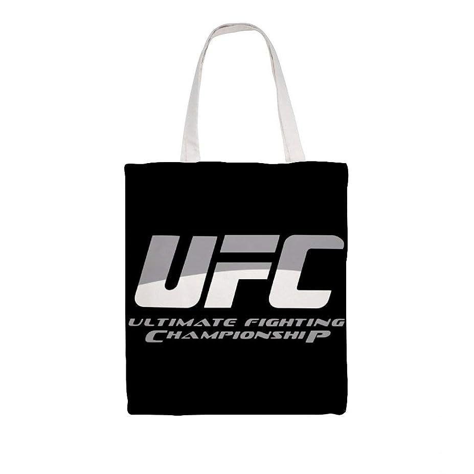 南東勇気のあるまばたきズックバッグ トートバッグ 手提げ袋 大容量 ショルダー 買い物 旅行 質感 収納便利 耐久性 人気 おしゃれ 軽量 鞄 UFC Ultimate Fighting Championship Logo 38*41cm