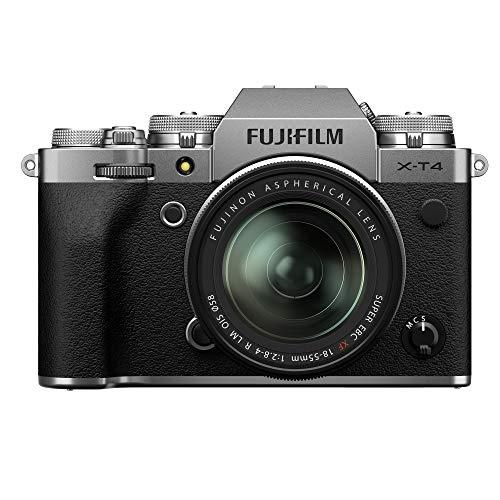 Fujifilm X-T4 - Kit de cámara con Objetivo XF18-55/2.8-4, Color Plateado