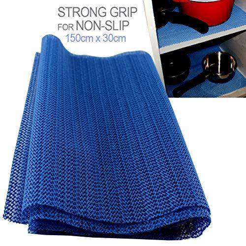 Schone producten (UK) MULTIPURPOSE niet slip Grip Liner- Anti Slip Mat voor tapijten, tapijten, lade Liner maken stabiele oppervlakken - blauw