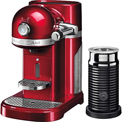 KitchenAid Nespresso Candy Apple Artisan Coffee Machine and aeroccino 3 5kes0504bca