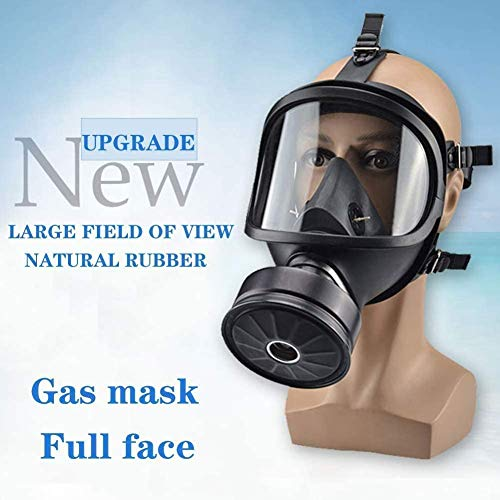 Full Face Respirator, Military Spec Gas Mask (Respirator +Canister) Widely Used in Organic Gas,Paint Sprayer, Chemical,Woodworking,Dust Protection
