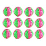 Tuscom Pet Hair Remover Balls for Laundry, Lint Remover Balls - Non-Toxic Reusable Dryer Balls Washer and Dryer Ball Remove Long Hair from Dogs and Cats on Clothes in The Washing Machine 12 Packs