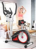 YQ&TL Indoor Elliptical Cross Trainer and Cycling Machine Magnetic control mute/adjustable seat/speed/time/mileage/heart rate/calories / 6KG inner magnetic wheel / 8 block resistance