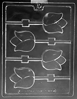 Cybrtrayd Life of the Party F120 Rose Pretzel Pop Flower Chocolate Candy Mold in Sealed Protective Poly Bag Imprinted with Copyrighted Cybrtrayd Molding Instructions