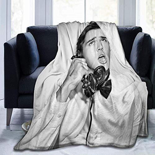 VJSDIUD Charlie Gillespie Throw Blankets Fannel Fleece Blanket Flanell Throw Blankets All Season Leichtgewicht Warm für Couch Schlafsofa Decken 60 'x50'