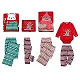 keepmore Familia Navidad Conjunto de Pijamas para Hombres Mujer Niña Niño Bebé Xmas Matching Pjs Ropa de Dormir Nightwear Top y Pantalones Outfit Set