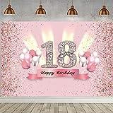 18. Geburtstag Banner 18 Geburtstag Deko Rosegold Party