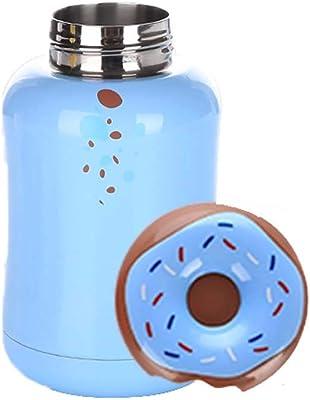 LIRIDP 保温ポット クリエイティブステンレス鋼マグかわいいマカロン学生子供カップ学生女性新鮮なステンレス鋼ハンドカップ (色 : 青)