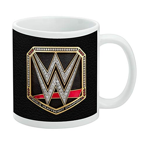 WWE World Heavyweight Champion Title Logo White Mug