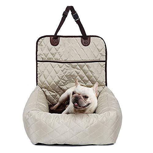 Li-HIM Hundeautositz, 2 in 1 Auto-Haustier-Zusatzsitz, Abnehmbarer Bezug Sicher Und Komfortabel Mit Sicherheitsgurt Für Kleine Bis Mittlere Hunde