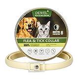 DEWEL Collar Antiparasitos Perro/Gato Pequeño Mediano Grandes contra Pulgas, Garrapatas y Mosquitos, 8 Meses