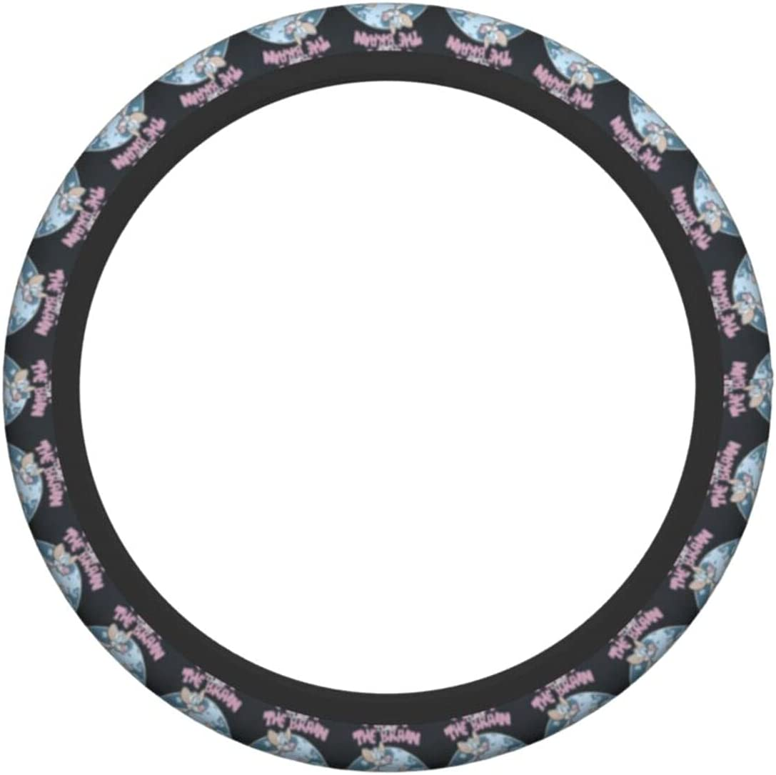 Pi-nk-y and 5 popular The Br-ai-n Steering Wheel Tampa Mall Cover Universal 15 S inch