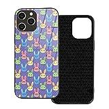 Estuche para teléfono Easter Smart Bunny Purple Phone Cover para iPhone 12/12 Mini / 12 Pro / 12 Pro MAX Contraportada de Vidrio Templado + TPU para iPhone 12 Pro MAX 6.7 Pulgadas