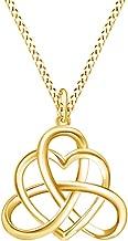 Jewel Zone US Irish Heart Celtic Vintage Pendant Necklace 14k Gold Over Sterling Silver