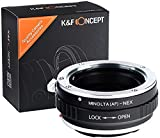 K&F Concept Minolta AF Adapter Sony/Sony A Adapter ∙ Kompatibel mit Sony E-Mount Kamera (NEX/Alpha) ∙ Objektivadapter für Minolta AF Objektiv/Sony A Objektiv