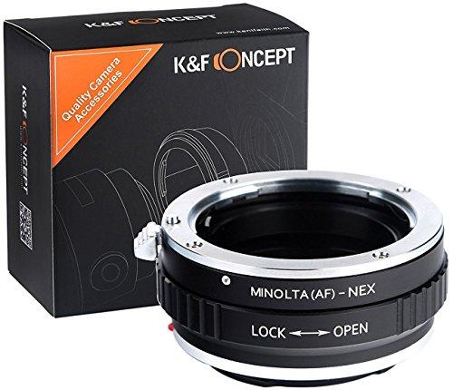 K&F Concept Minolta AF Adaptador ∙Compatible con Cámara Sony E-Mount (NEX/Alpha) ∙...