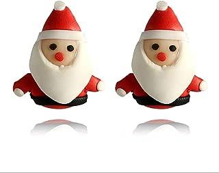 Señoras Árbol De Navidad Santa Reno Muñeco De Nieve Copo de Nieve Campana Aretes Reino Unido