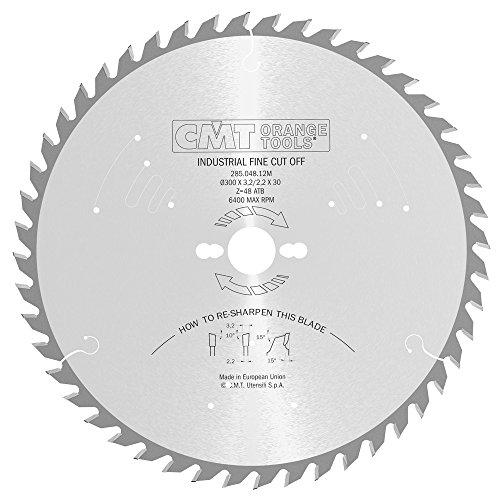 CMT Orange Tools 285.048.12M - Sierra circular 300x3.2x30 z 48 atb 10 grados silenciosa