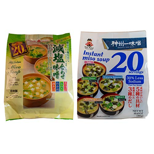 Miso Soup Low Sodium Instant Miso Soup Variety Pack 40 Servings Fresh Miso Paste