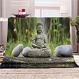 QHWLKJ Ropa De Cama 3D Manta de Sofás Zen de Piedra 130x150 cm Mantas de Sofá de Franela de Microfibra para Adultos y Niños, Resistente a Las Arrugas No Pierde Color,Mantas para