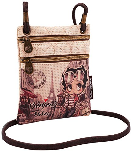 Karactermania Betty Boop Streets-Action Mini Vertical Shoulder Bag Umhängetasche, 17 cm, Beige