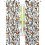 YUAZHOQI Cortina de ventana Drape Fox Fox en el bosque de invierno cortinas opacas para dormitorio de niños de 132 x 182 cm (2 paneles)