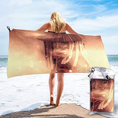 ZEGAILIAN Toalla de playa N-Aruto Akatsuki Itachi absorbente resistente a la decoloración toalla de secado rápido