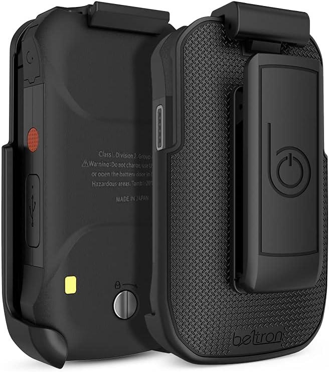 Holster for DuraXV Extreme, DuraXE Epic, BELTRON Heavy Duty Rotating Belt Clip Holder Case for Kyocera DuraXE Epic E4830 AT&T/FirstNet, DuraXV Extreme E4810 Verizon Flip Phone