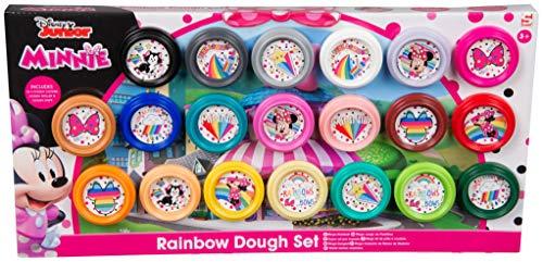 Kit di Pasta da Modellare E Accessori Minnie | Rainbow Pack 40 Pezzi con Vasetti di Colori | Super Set per Impasto Accessori Pasta Modellabile Completo Gioco per Bambini | attività Creative da 3 Anni