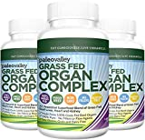 Paleovalley: Grass Fed Organ Complex - Beef Organ Capsules - True Primal Superfoods - 30 Day Supply - Provides B12 Vitamins - Gently Freeze Dried - Variety of Organ Meats - Liver, Heart, & Kidney