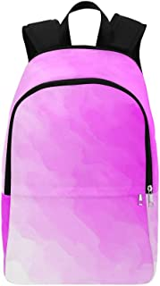 YUMOING Pink White Pink Colorful Casual Daypack Travel Bag College School Backpack for Mens and Women