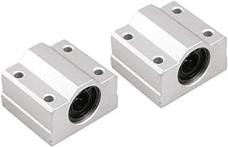 Robocraze SCS10UU 10mm Slide Unit Block Bearing Steel Linear Motion Ball Bearing Slide Bushing Shaft CNC Router DIY 3D Pri...