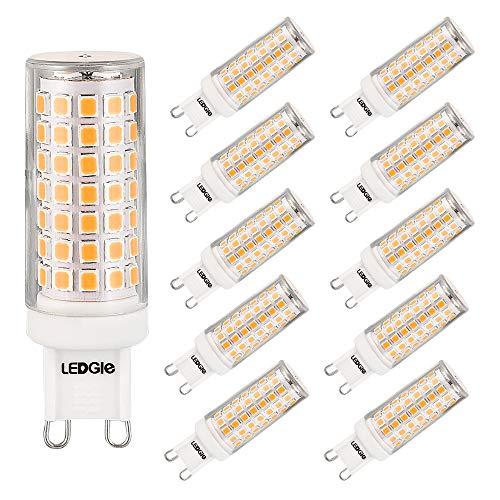 LEDGLE G9 Led Lampe 8W Mais Birne Kein Flimmern, Warmweiß 3000K 700LM Entspricht 80W Glühbirnen Halogenlampen,Nicht Dimmbar, Energiesparlampe Kleine Kerze Leuchtmittel (10er-Pack)