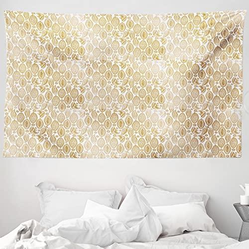 ABAKUHAUS Kakao Wandteppich & Tagesdecke, Kakaobohnen Plain Hintergr&, aus Weiches Mikrofaser Stoff Wand Dekoration Für Schlafzimmer, 230 x 140 cm, Pale Kaffee Weiß