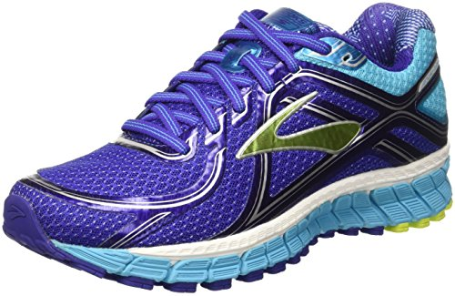 Brooks Adrenaline Gts 16 , Chaussures de Running Compétition Femme, Multicolore (Spectrum Blue/Lime Punch/Blue Atoll), 36.5 EU