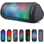 Bluetooth Speakers Portable Wireless 7 LED Lights Modes Support TWS Pairing Built-in Mic,AUX,HandsFree for iPhone iPad Samsung Android Phone Stereo Loud Volume Long Playtime Outdoor Home & Travel Wireless Bluetooth Speaker