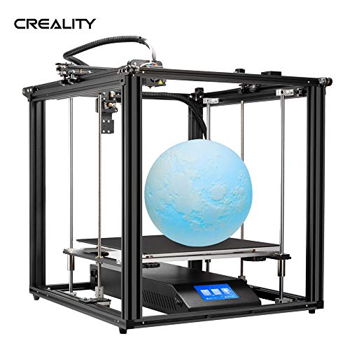 3D Printer,Benkeg Ender-5 Plus 3D Printer DIY Kit 350 * 350 * 400mm Large Build Volume with 4.3 Inch Touchscreen Removable Tempered Glass Plate Double Y-axis Z-axis Strong Power Supply Support Auto