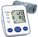 Blood Pressure Monitor, Upper Arm Digital Blood Pressure Monitors Cuff BP Machine Automatic Heart Rate Pulse Monitor with LCD Large Screen Display Home Use Care Device