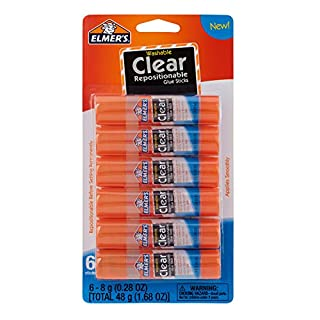 Elmer's Clear Glue Sticks, Washable, 0.28 Ounce Glue Sticks for Kids | School Supplies | Scrapbooking Supplies | Vision Board Supplies, 6 Count (B073K2NGY2) | Amazon price tracker / tracking, Amazon price history charts, Amazon price watches, Amazon price drop alerts