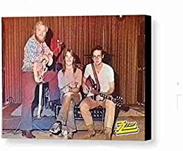 Rare Framed ZZ Top Rock Band First Photo Gig Vintage Photo. Jumbo Giclée Print