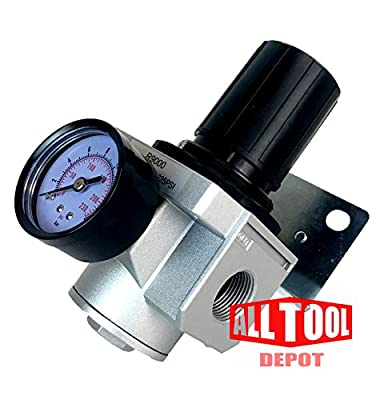 "1"" Heavy Duty High Flow In-line Compressed Air Pressure Regulator 180 Cfm from ALL Tool Depot"