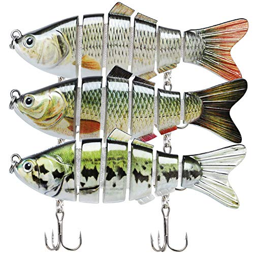 "Fishing Lures for Bass 3.9"" Multi Jointed Swimbaits Slow Sinking Hard Lure Fishing Tackle Kits Lifelike"