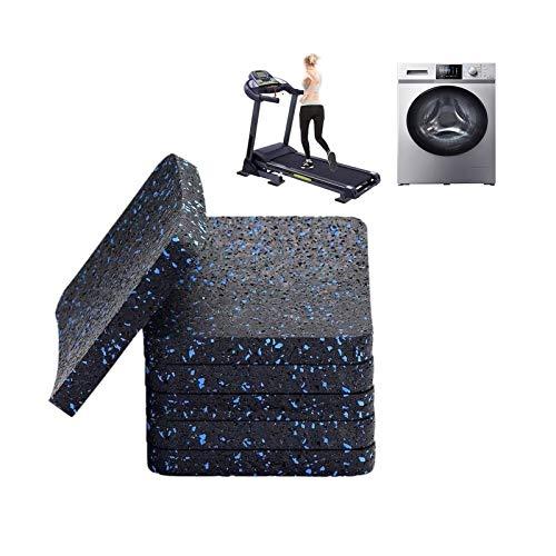 MNBVH Antivibrationsmatte Laufband, Schwingungsdämpfer Waschmaschinen Unterlage Antirutsch, Gummimatte für Waschmaschinen - Trockner 12 Pack