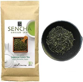 Zen no Megumi Sencha tea Standard - Japanese loose leaf Organic Green tea Made in Shizuoka Japan  Sencha tea Standard 3.53oz 100g