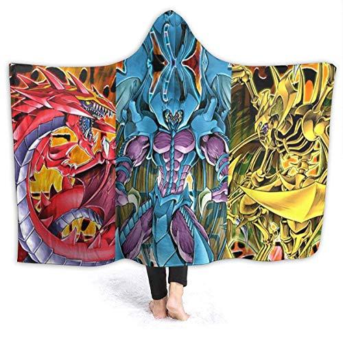 chenjian Bestia Sagrada monstruo peluche manta estampada en 3D cabina grande manta de viaje con capucha capa invierno cálido manta sherpa para oficina capa para camping exterior 60 'X50'