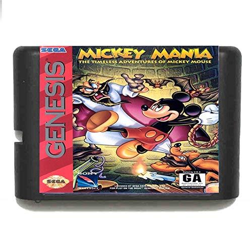 Jhana Mickey Mania - Tarjeta de juego Sega de 16 bits, MD...