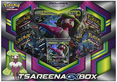 Pokemon TCG: Tsareena-Gx Box - 4 Booster Pack with A Foil Promo Card & 1 Foil Oversize Card