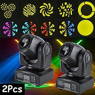 Stage Light, Pack of 2 30W LED RGBW Moving Head Stage Light DMX512 Disco DJ Party Show Effect Lights US Plug 110V (#5)